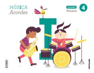 CUADERNO MUSICA ACORDES 4 PRIMARIA